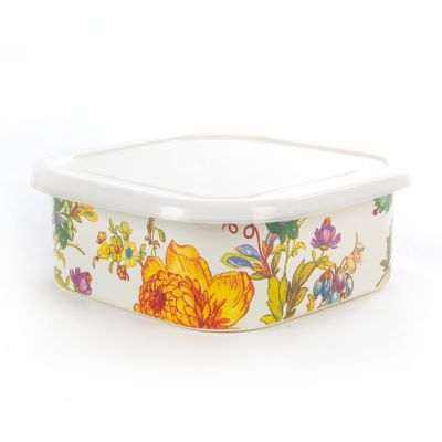 Flower Market Large Squarage Bowl - White
