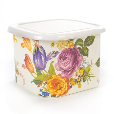 Flower Market Deep Large Squarage Bowl - White