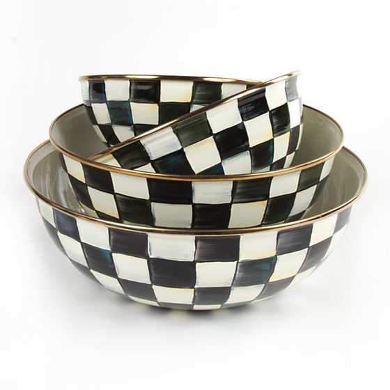 Courtly Check Enamel Everyday Bowl - Small