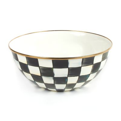 Courtly Check Enamel Everyday Bowl - Large