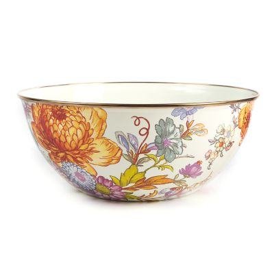Flower Market Large Everyday Bowl - White