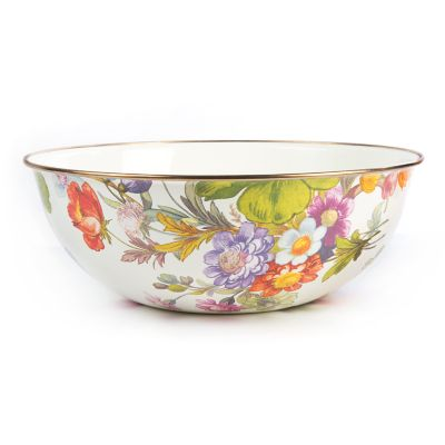 Flower Market Extra Large Everyday Bowl - White