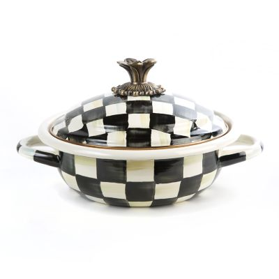 Courtly Check Enamel Casserbole - Small
