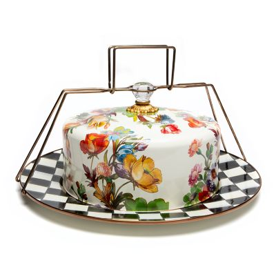 Flower Market Cake Carrier - White