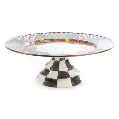 Evergreen Enamel Pedestal Platter - Large