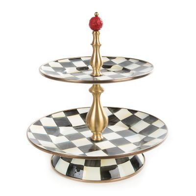 Courtly Check Cake Stand - mackenzie-childs