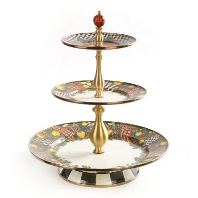 Evergreen Enamel Three Tier Sweet Stand