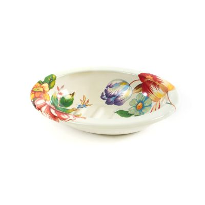 Flower Market Soap Dish - White