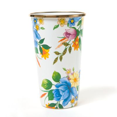 Flower Market 20 oz. Tumbler - White