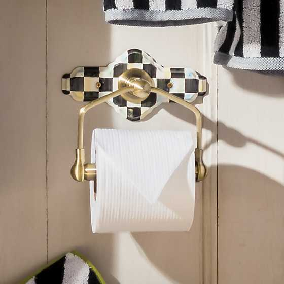 Mackenzie Childs Courtly Check Toilet Paper Holder