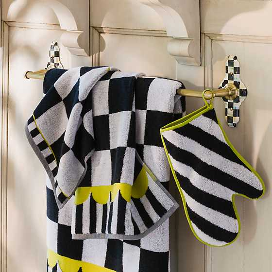 Mackenzie Childs Courtly Check Towel Bar