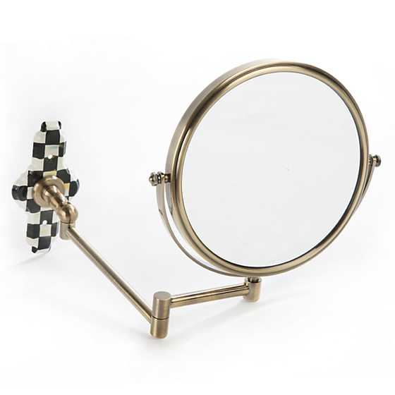 Mackenzie Childs Courtly Check Articulated Bath Mirror