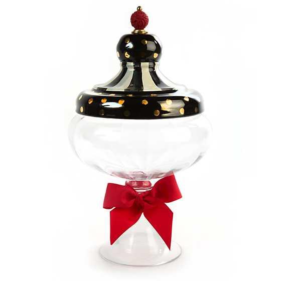 apothecary jar tie mackenzie childs medium check
