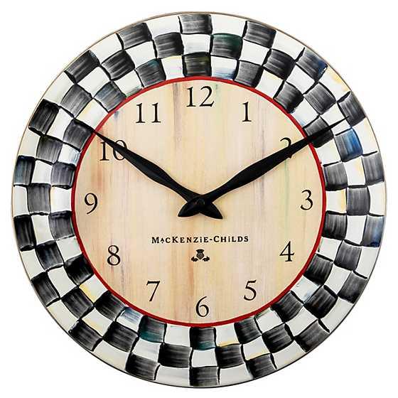 fresh idea whimsical clocks. Courtly Check Enamel Clock MacKenzie Childs