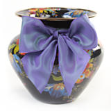 Flower Market Enamel Large Vase - Black