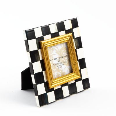 "Courtly Check Enamel Frame - 2.5"" x 3"""