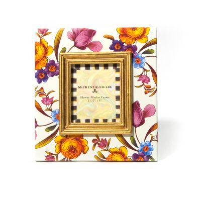 """Flower Market 2.5"""" x 3"""" Frame - White"""