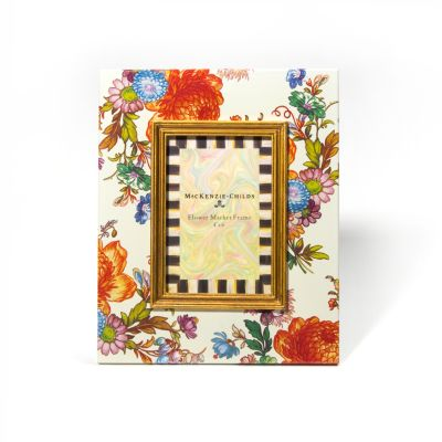 """Flower Market 4"""" x 6"""" Frame - White"""