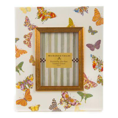 "Butterfly Garden 5"" x 7"" Frame - White"