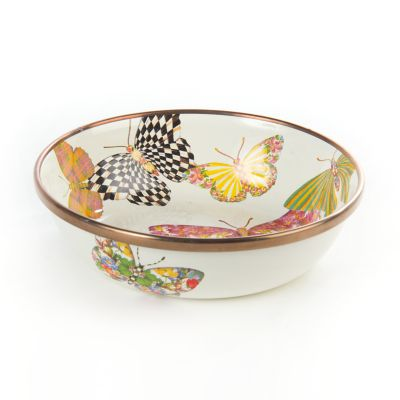 Butterfly Garden Relish Dish - White