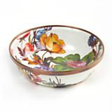 Flower Market Relish Dish - White