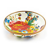 Flower Market Enamel Small Dish - White