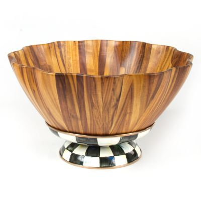 MacKenzie-Childs - Courtly Check Fluted Salad Bowl