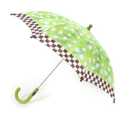Polka Dot Child's Bumbershoot - Green