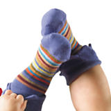 Multi Stripe Purple Ankle Socks - Kids 2T-4T