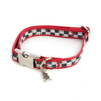 Courtly Check Couture Red Pet Collar - Small