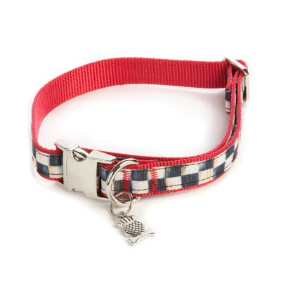 Courtly Check Couture Red Pet Collar - Medium