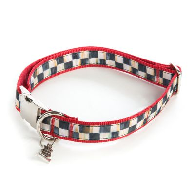 Courtly Check Couture Red Pet Collar - Large