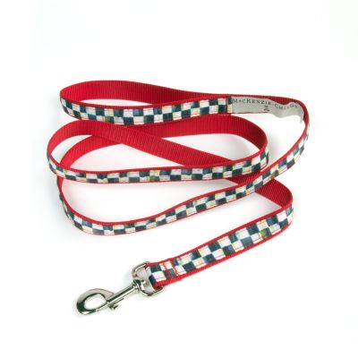 Courtly Check/Red Pet Lead - Medium