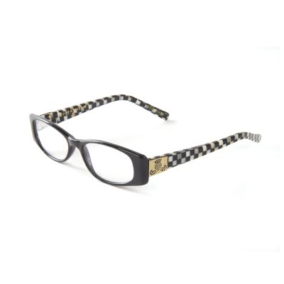 Courtly Check Readers - Black x1.5