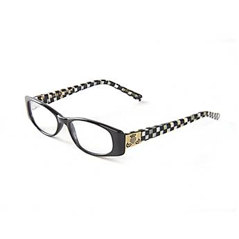 Courtly Check Reading Glasses - Black x1.5