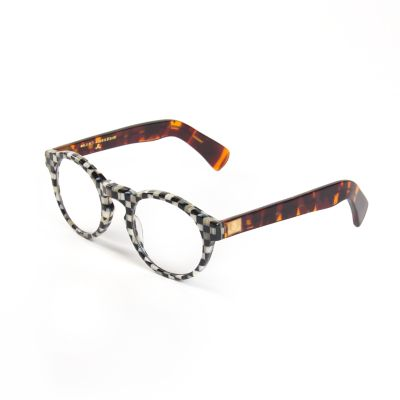Courtly Check Round Readers - x1.5