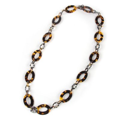 Liaison Long Necklace - Tortoise