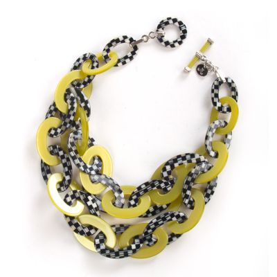 Lime Liaison Bib Necklace