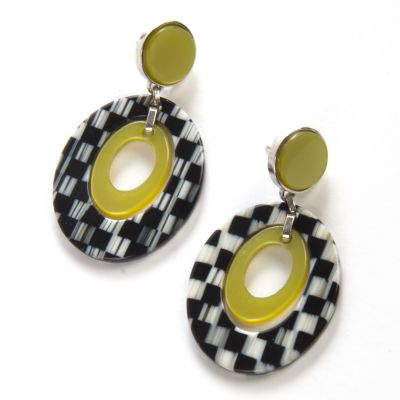 Lime Liaison Teardrop Earrings