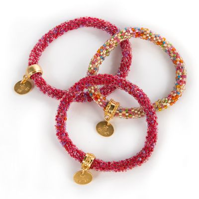 Berry Little Beaded Bracelets - Set of 3