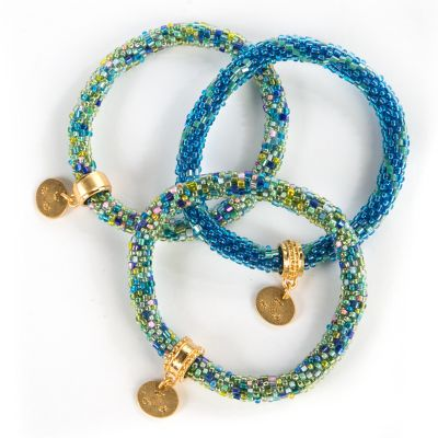 Caribbean Little Beaded Bracelets - Set of 3