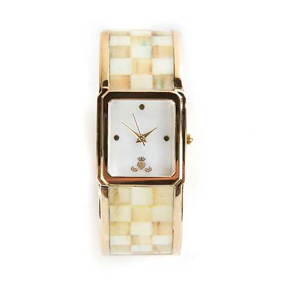 Parchment Check Bangle Watch