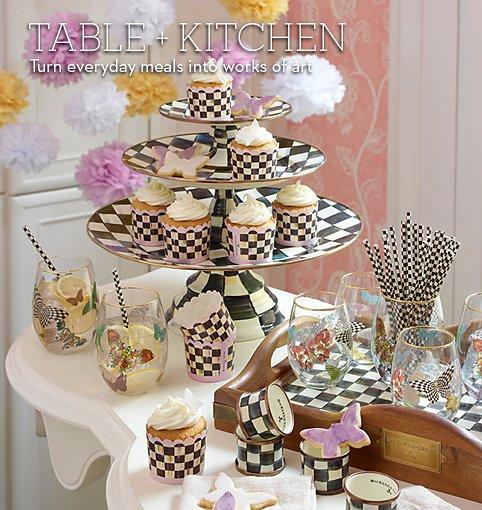 Mackenzie childs hand painted dinnerware from mackenzie for Mackenzie childs kitchen ideas