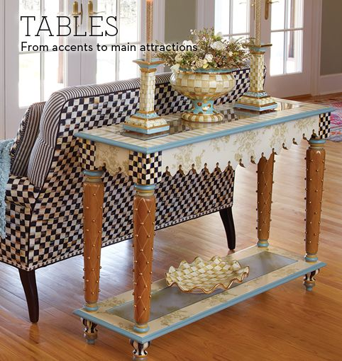Mackenzie childs handcrafted tables large or small at for Mackenzie childs kitchen ideas