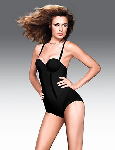 Flexees Easy-Up Strapless Body Briefer