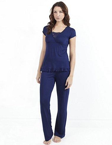Maidenform Valerie Short Sleeve Pajama Set