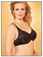 Lilyette® Tailored Minimizer Bra with Lace Trim