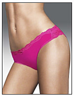 Maidenform® Flirty Pants Lace Trimmed Tanga