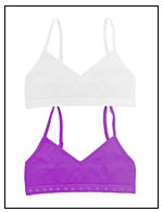 Maidenform® Girls 2-Pack Seamless Crop Bra