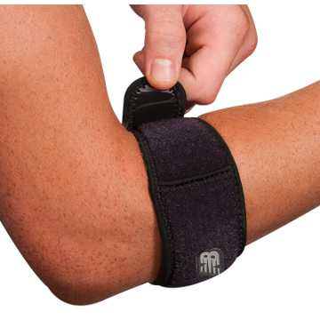New Balance Adjustable Tennis Elbow Support, Black